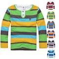 Meninos de alta Qualidade T-shirt Dos Miúdos T-shirt Do Bebê do Menino da marca t camisas Crianças t Camisas de Manga Comprida de Algodão Cardigan Camisola Jaqueta
