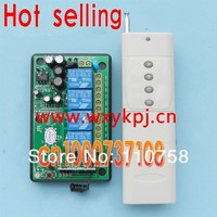 Free Shipping 220V 4CH High Power Wireless Remotes Control Switch System For Garage Doors Rolling Gates