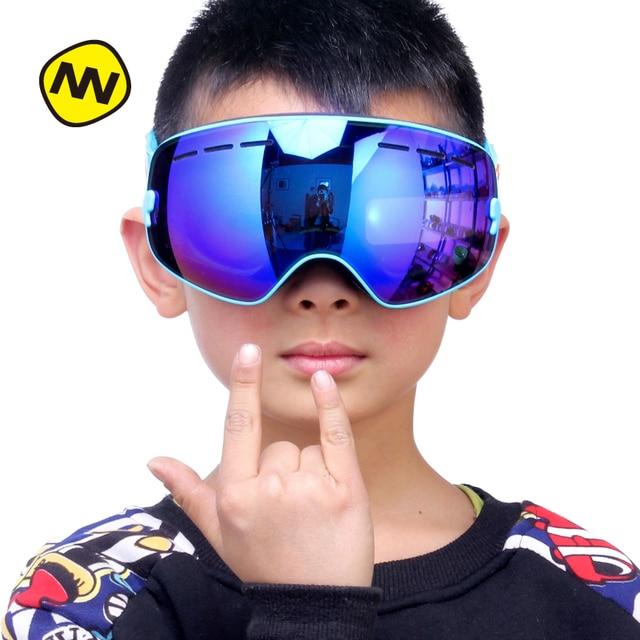 7fb2ad8649c8 NANDN Parent Children Ski Goggles Anti Fog UV400 Big Spherical Double Lens  Can Be Myopia Snow