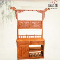 Antigüedad China muebles rosewood caoba perchas para abrigos de madera con cordón de percha fría grifo