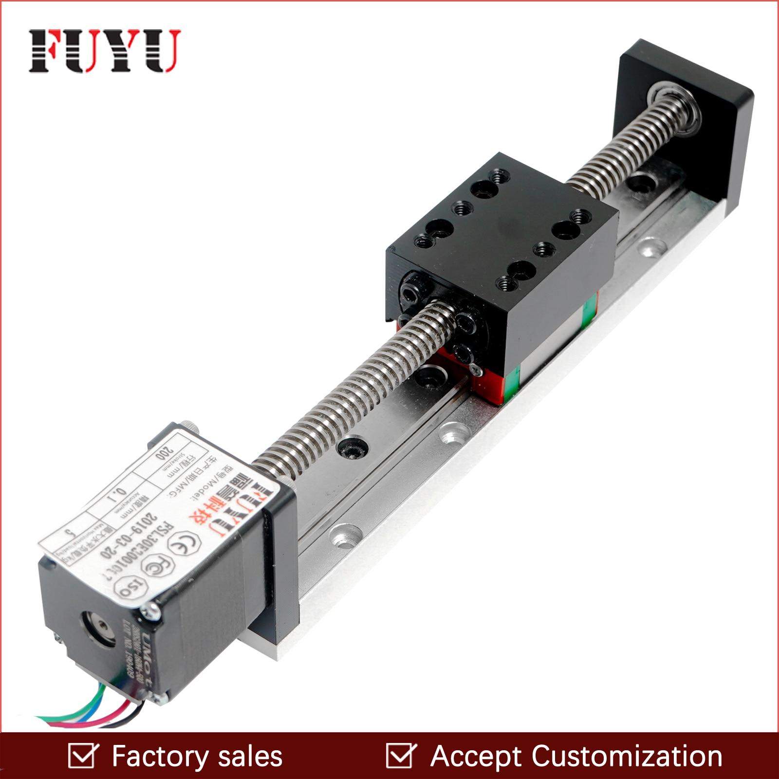 Mini Guide linéaire glissière Rail CNC petite scène actionneur vis plomb mouvement Table système Nema pièce robotisée motorisée moteur pas à pas
