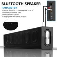 20W HIFI Bluetooth Speaker Soundbar 3D Super Bass Portable Wireless Computer PC TV Speaker Subwoofer Mic FM Radio 4 Drivers