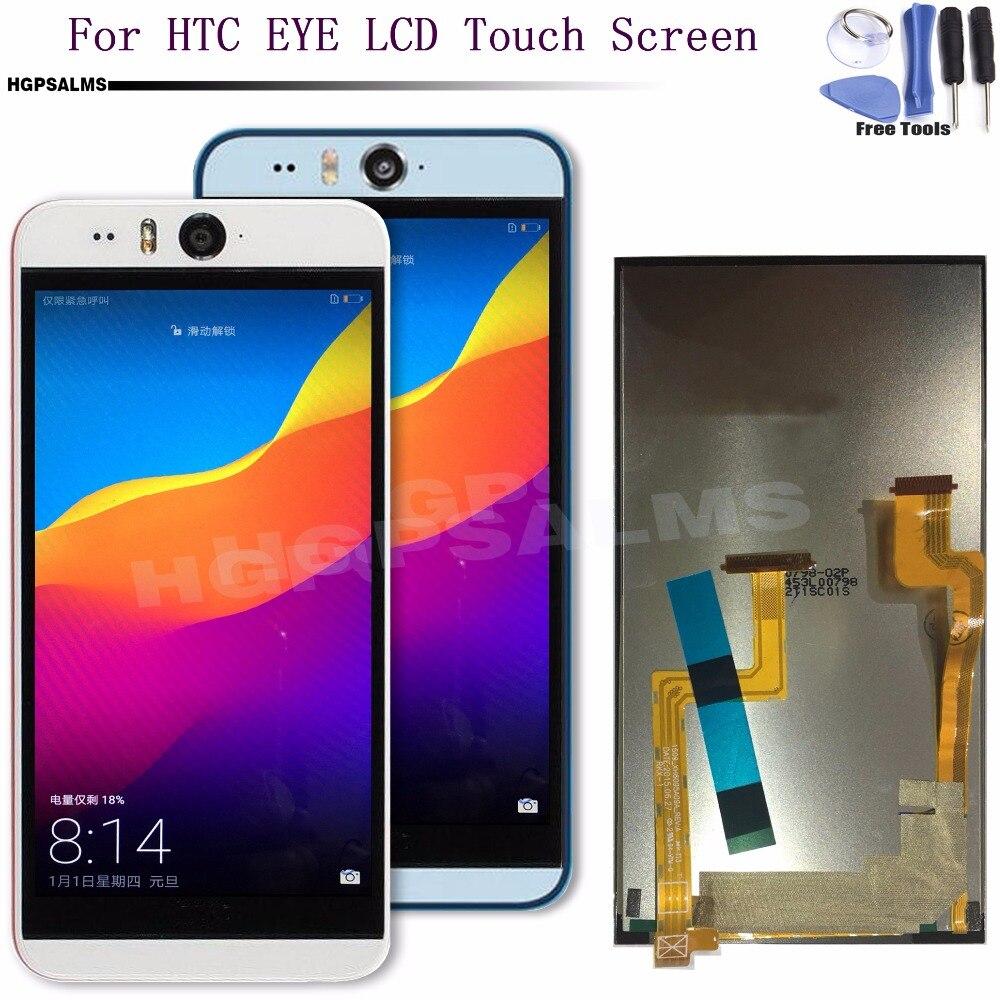Para htc desire eye display lcd touch screen digitador assembléia peças de reposição com quadro