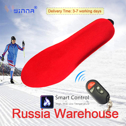 1800mAh Electric Heated Insoles with Wireless Control Men Women Shoe Pads Winter Warm Heating Insoles for Hiking Skiing Camping