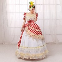 Elegant Summer 18th Century Victorian Lolita Dress Marie Antoinette Evening Party Dress For Ladies