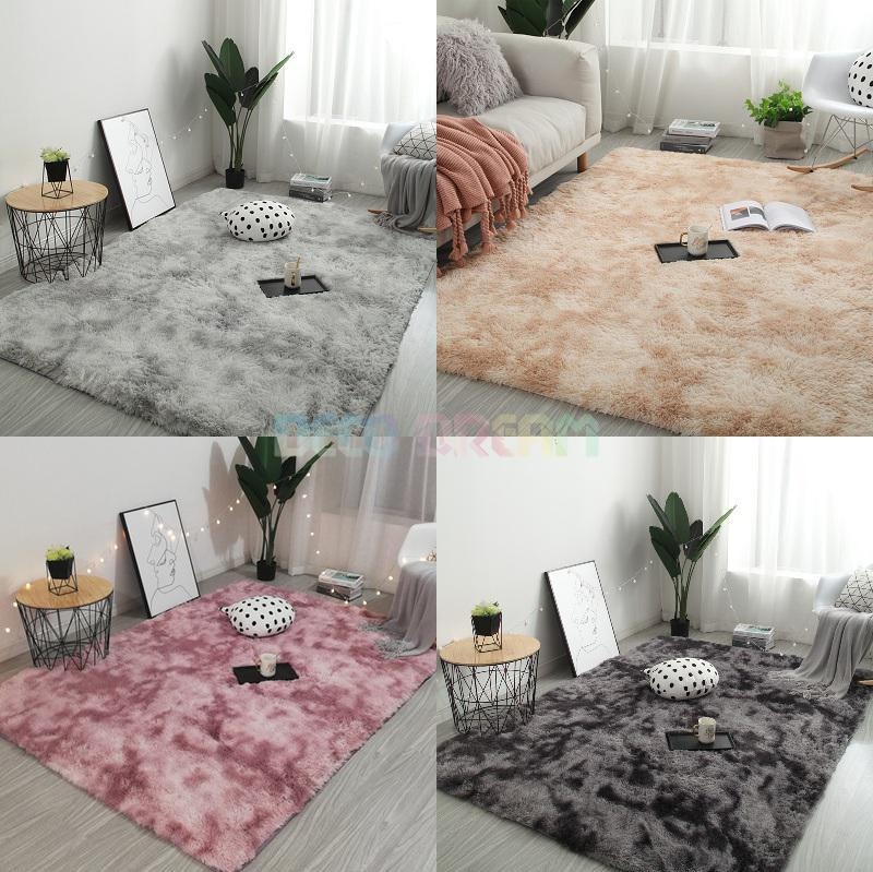 Tie-dyed Plush Carpet For Living Room Home Decor Gradient Color Soft Fluffy Rug Shaggy For Bedroom Sofa Able Floor Cloakroom Mat