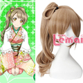 New Arrival Synthetic Long Wave Brown Love Live Minami Kotori Cosplay Wig Ponytail