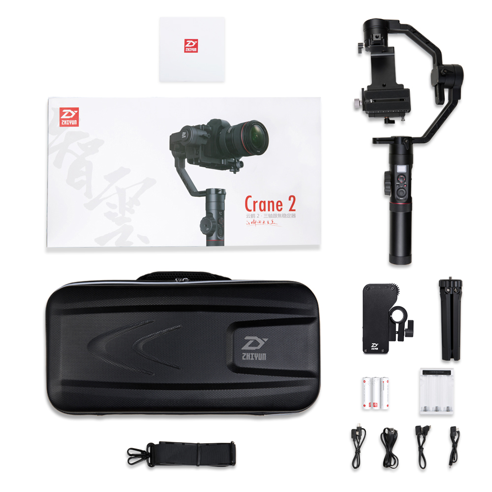 Us 65194 5 Offzhiyun Official Crane 2 3 Axis Camera Stabilizer For All Models Of Dslr Mirrorless Camera Canon 5d234 With Servo Follow Focus In