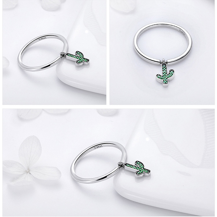 geekoplanet.com - 925 Sterling Silver Cactus Ring
