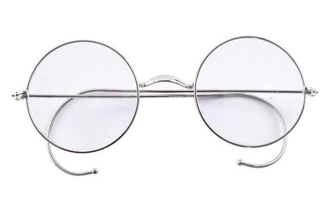 aeb5a85ea0 Agstum 49mm Round Optical Rare Wire Rim Prescription Harry Potter Style Eyeglasses  Frame Without Nose Pads