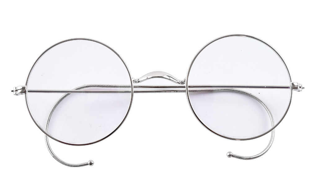 52ec05a258 Detail Feedback Questions about Agstum 49mm Round Optical Rare Wire Rim  Prescription Harry Potter Style Eyeglasses Frame Without Nose Pads Antique  Glasses ...