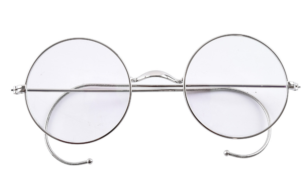 Agstum 49mm Round Optical Rare Wire Rim Prescription Harry Potter Style Eyeglasses Frame Without Nose Pads Antique Glasses Rx