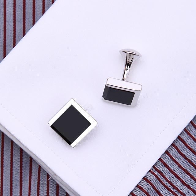 запонки kflk мужские черные ювелирные украшения для рубашки фотография