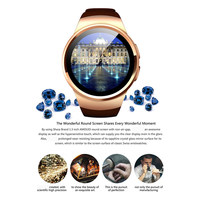 original Kingwear KW18 smartwatch 1.3inch Touch Screen Support SIM TF Card Wristband Heart Rate for apple IOS huawei Android