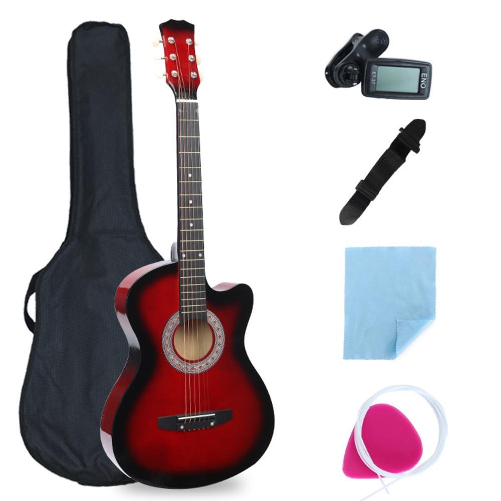 38 tums saknad vinkelgitarr full utrustning nybörjare introduktion - Skola och pedagogiska förnödenheter - Foto 5