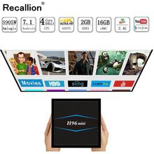 H96mini Smart tv box Android 7.1 2.4G/5G Wifi Bluetooth 4.0 S905W Quad Core 4k Full HD Media Player Netflix H96 mini Set-Top Box стоимость