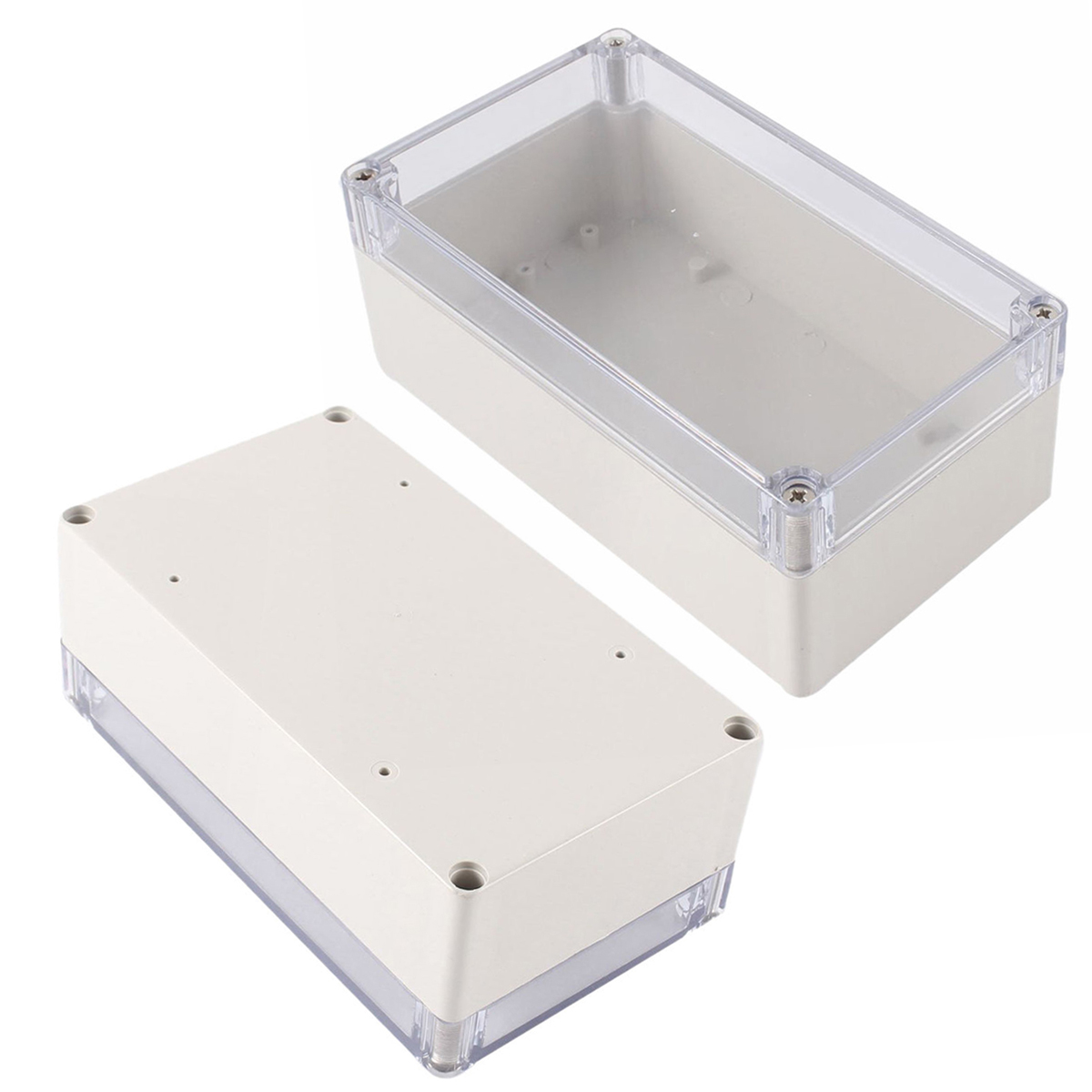 лучшая цена 1pc Mayitr Waterproof Enclosure Case Clear Cover Plastic DIY Electronic Project Instrument Box 158mmx90mmx60mm