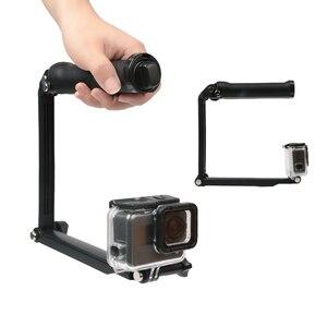 Image 3 - 3 דרך גריפ עמיד למים חדרגל Selfie מקל חצובה Stand עבור GoPro גיבור 7 6 5 4 מושב יי 4K Sjcam Eken Pro עבור אבזר