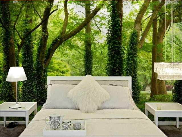 Aliexpress com   Buy Hot sale Super 3D stereo forest trees living room sofa  TV den restaurant wallpaper nature wall covering high quality Mural from. Aliexpress com   Buy Hot sale Super 3D stereo forest trees living