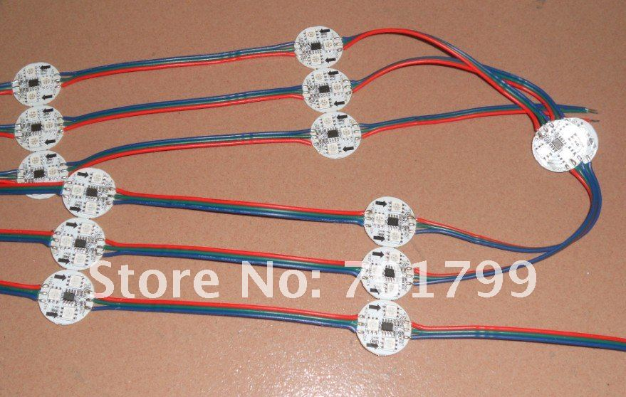 Не обладает водонепроницаемостью: светодиодный цифровой модуль, WS2811IC 5050 3 светодиодный S; DC12V вход переменного тока, 20 штук веревочке; 256 серый scale2
