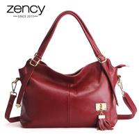 New American LUXURY Tassel 100 Soft Genuine Leather Women Shoulder Bag Brand Ladies Designer Handbags Crossbody