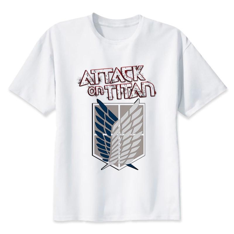 Attack On Titan T-shirt men summer t-shirt boy print tshirt anime t shirt brand clothing white color tops tees MR1017