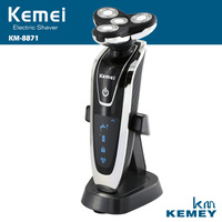 4D Deluxe Full Body Washable Rotary Men S Shaver KM8871 Electric Razor Beard Shaving Machine Rechargeable