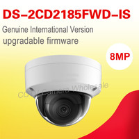 Free Shipping English Version DS 2CD2185FWD IS 8MP WDR Fixed Dome Network Cctv Ip Camera POE