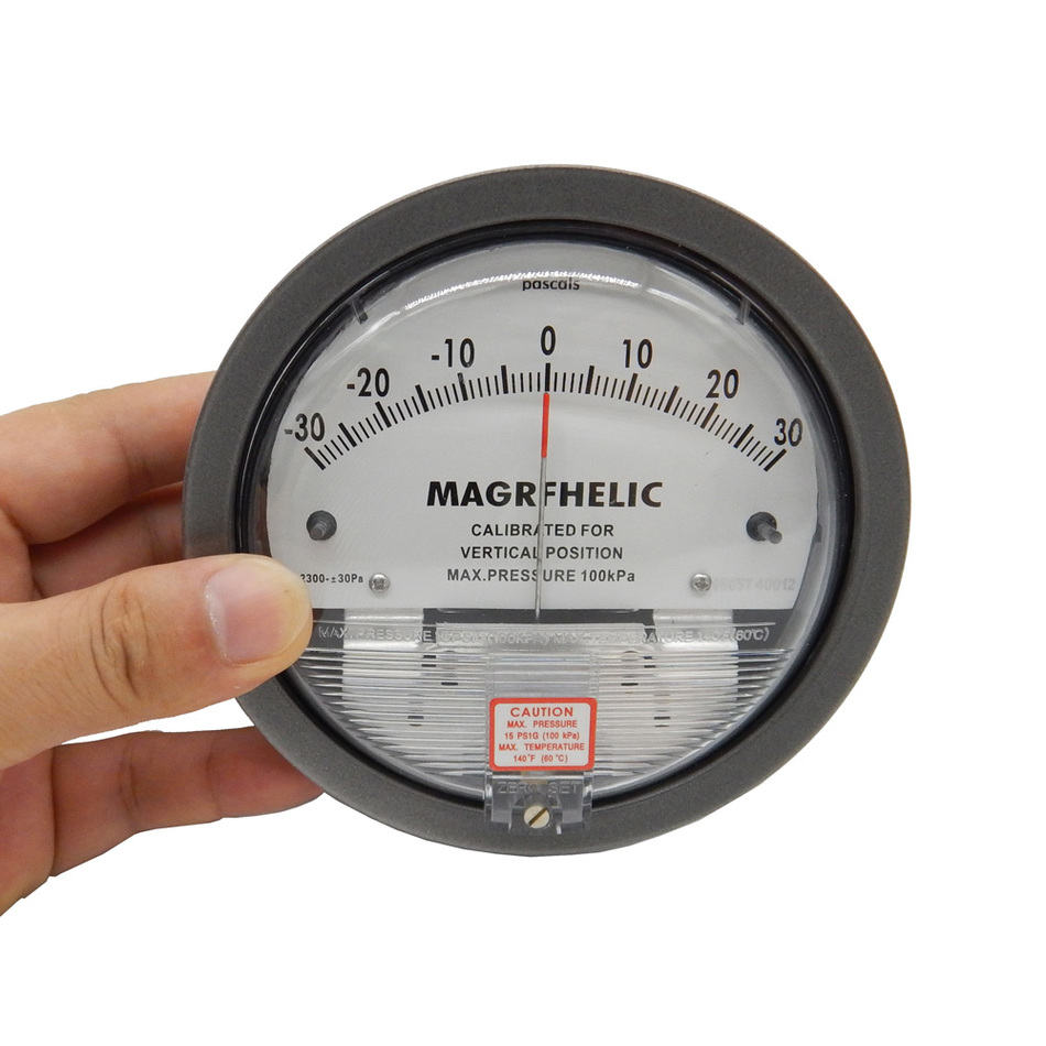 Professional +/-2000pa Digital Analog Manometer gas industry  air negative pressure meter as510 cheap pressure gauge with manometer 0 100hpa negative vacuum pressure meter