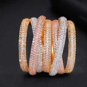 Image 5 - GODKI Monaco Thiết Kế Sang Trọng Twist Ngăn Xếp Có Thể Xếp Chồng Nhẫn Đối Với Phụ Nữ Cưới Cubic Zircon Engagement Dubai Naija Bridal Finger Nhẫn