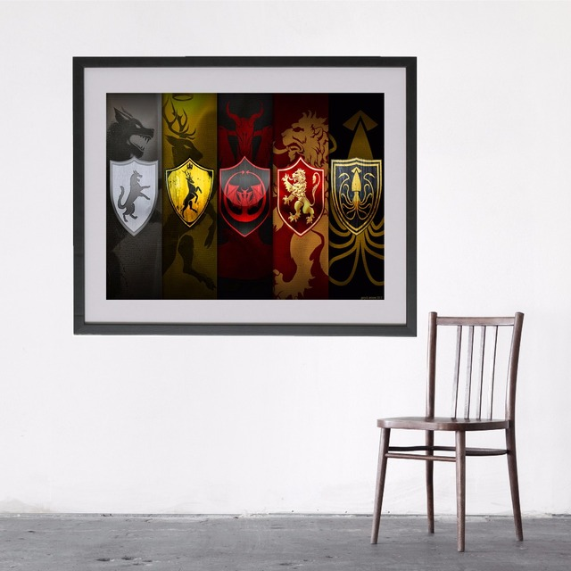 Game Of Thrones Flags Canvas Art Print Painting Poster Wall Pictures ...