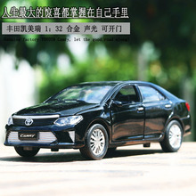 New 1:32 Toy Car Toyota Camry Metal Alloy Diecast Car Model Miniature Scale Model Sound and Light Model Car Toys For Children