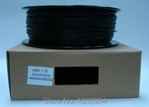 3D printer Conductive ABS filament New  Material Black Filament  1.75mm/3mm 1KG 3d printer 1 75mm abs filament black 150g