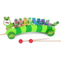 Rolling Xylophone Knock On Piano Musical Toy With Beat Stick Baby Kids Wood Toddler Learning Fun