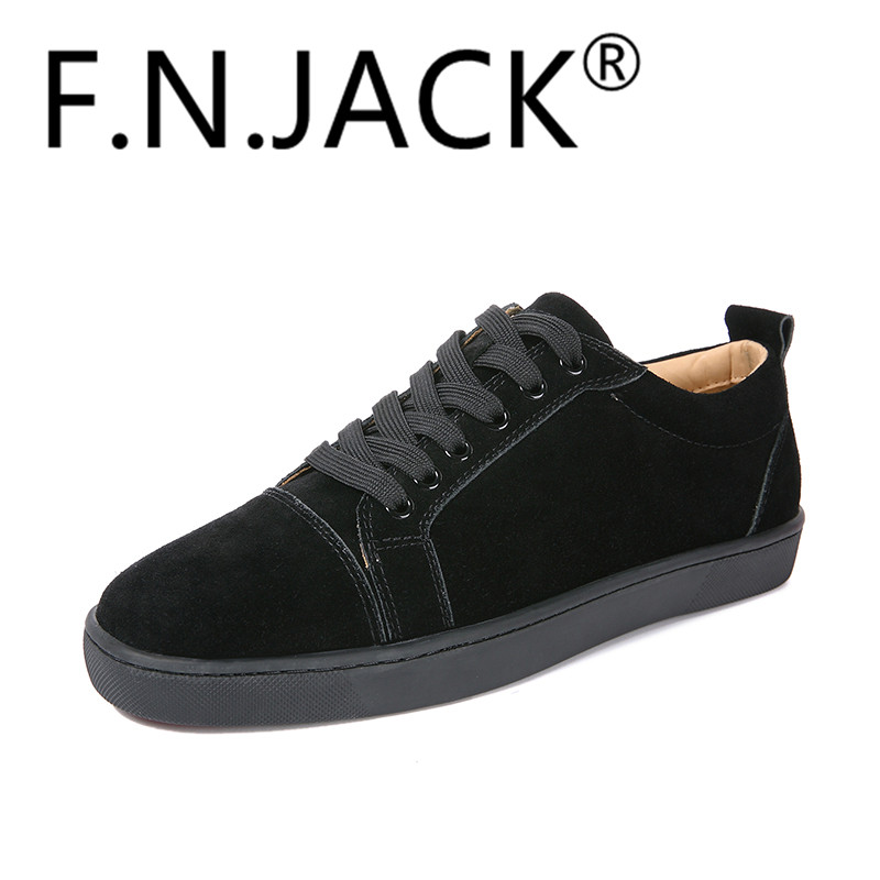 FNJACK Fashion Flat Shoes Louis Orlato Multi Suede Sneaker Classic - Men's Shoes
