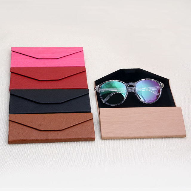 Glasses Eyeglass Sunglasses Triangular Fold Case