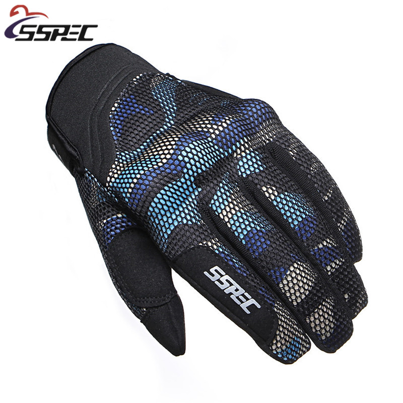 SSPEC Motorcycle Gloves Full Finger Protective Motorcross Racing Guantes Moto Off Road Touch Screen Knight Riding