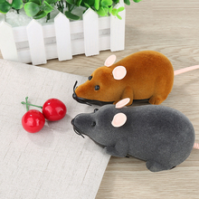 Hot selling New Black White Funny Pet Cat mice Toy Wireless RC Gray Rat Mice Toy Remote Control mouse For kids toys freeshipping