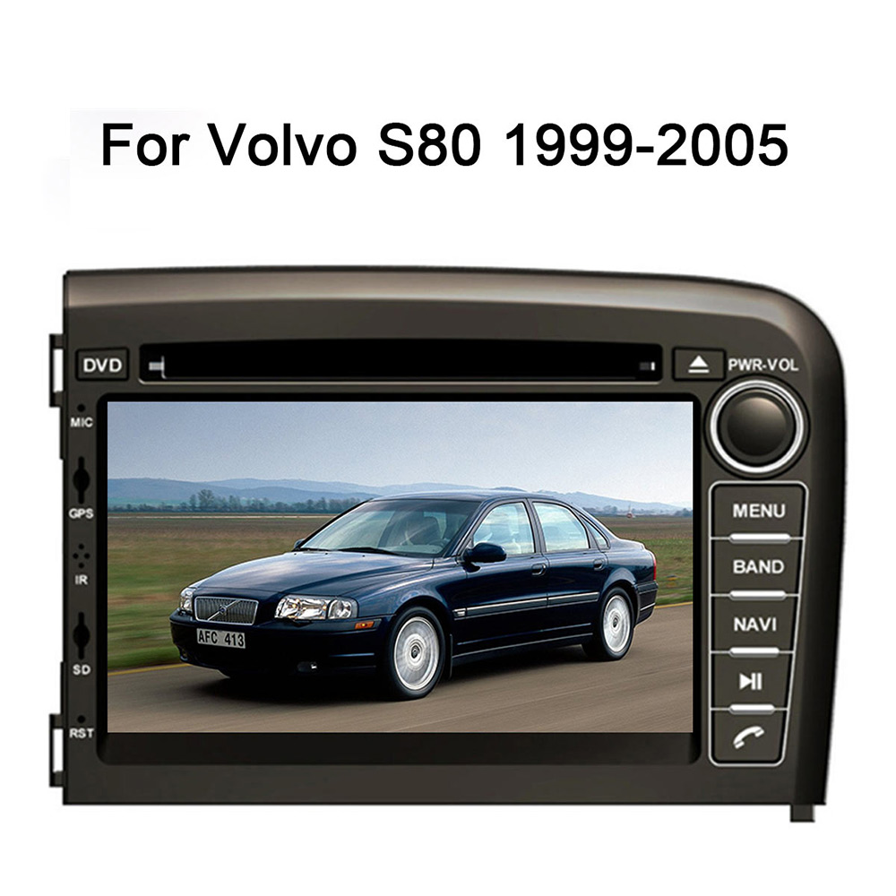 4+32G <font><b>Android</b></font> 9.0 Car DVD <font><b>GPS</b></font> Navigation Multimedia Player Car Stereo For VOLVO S80 1999 2000 <font><b>2001</b></font> 2002 2003-2005 Radio Headunit image