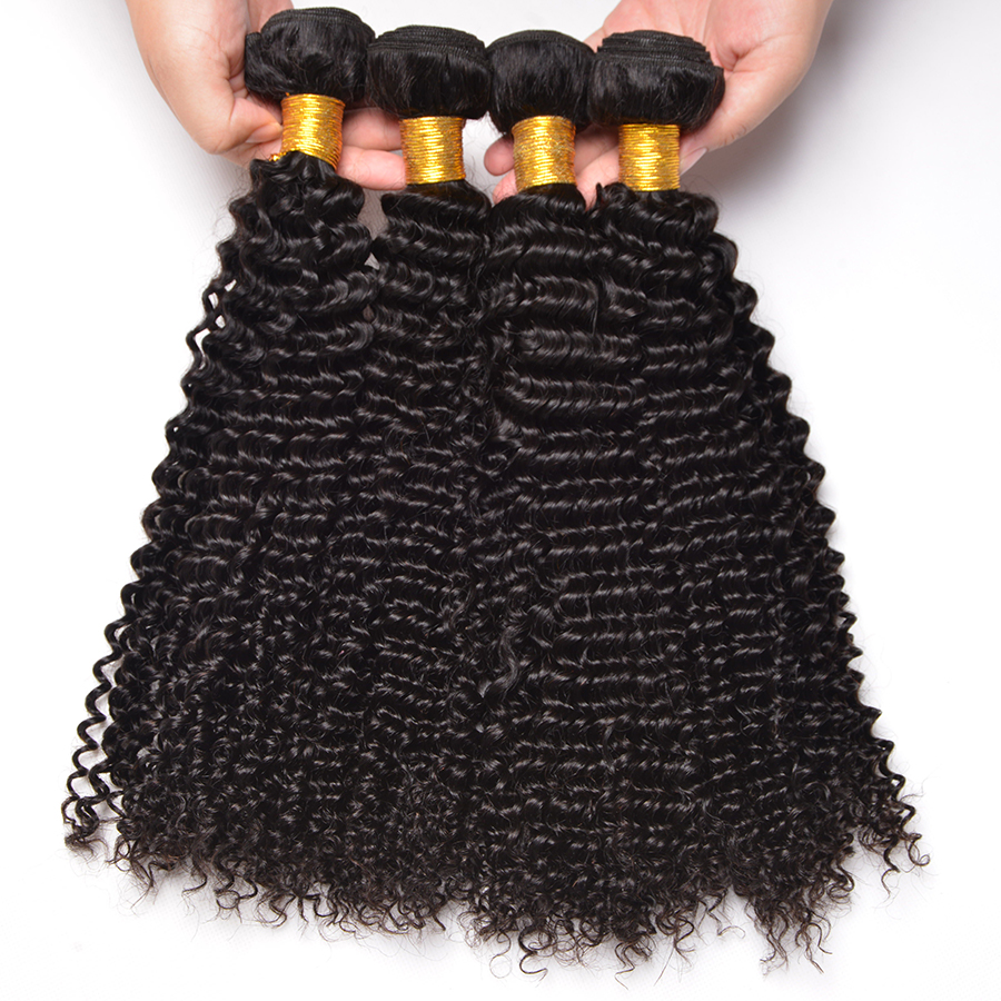 Oxeye girl Afro Kinky Curly Hair Bundles Malaysian Human Hair Weave Bundles Natural Color Non Remy Hair Extensions Can Be Mixed