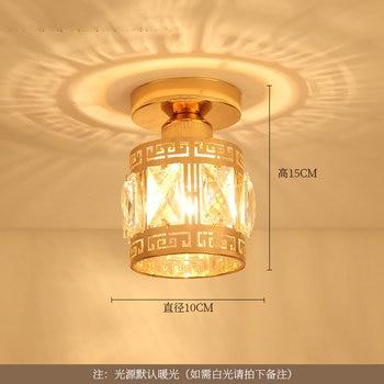 Artpad Modern LED Crystal Ceiling Light for Entrance Corridor Balcony Aisle Decor Surface Mount Square Round Gold Ceiling Lamp 17
