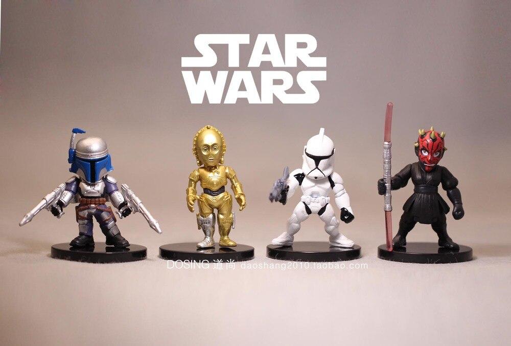 4 pcs New Star Wars Darth Maul véritable vrac blanc pion C-3PO poupée robot  main ornements 8fa6d42e97bc