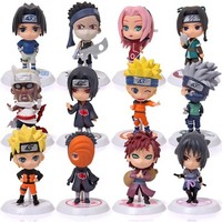 6 stks/set 12 Stijl 7 cm Japanse Anime Naruto PVC Action Figure Speelgoed Gaara Uzumaki Sasuke Orochimaru Figures Kamer Decoratie Gift
