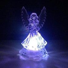 Belle veilleuses ange acrylique coloré veilleuse pour la maison fête mariage décoration lampes enfants cadeau lumière