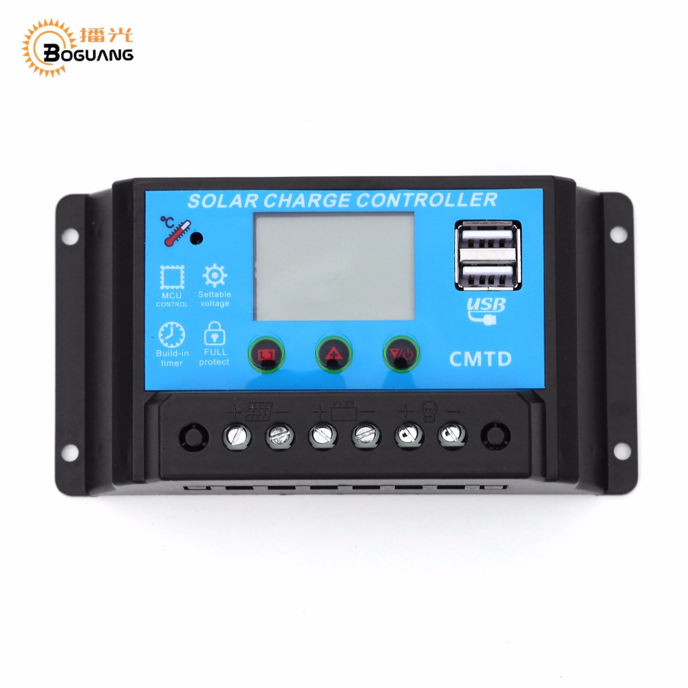 BOGUANG 20A 12V 24V Controller for Solar panel module solar cell DIY solar kits of boat yacht RV motorhome solar panel boguang 16v 90w solar panel quality cell aluminum board for home system car rv boat yacht 12v battery charger