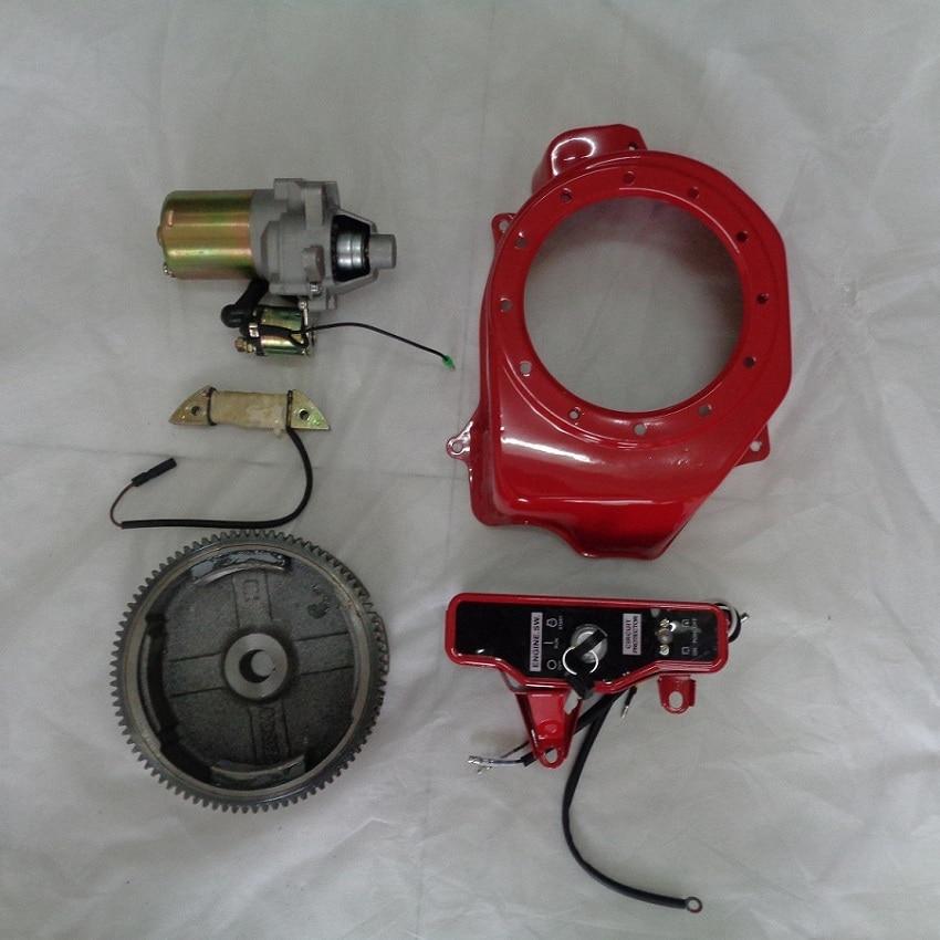 2KW 3KW Electric Start KIT Refit For HONDA 168F GX160 GX200 EC2500 Generator Flywheel Key Lock Switch Electric Motor kidkraft кукольный дом для барби глянец с мебелью