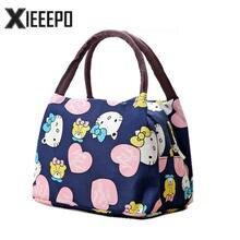 Girl Cartoon Hello Kitty font b Lunch b font font b Bag b font Portable Insulated