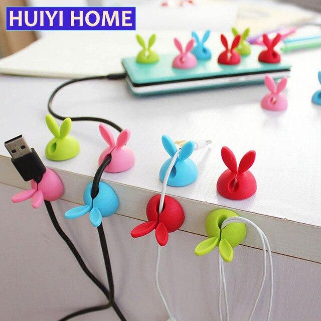 Huiyi Hause 4 Teile/los Niedlich Kabel Clip Halter Usb Ladegerät Kabel  Stromkabel Organizer