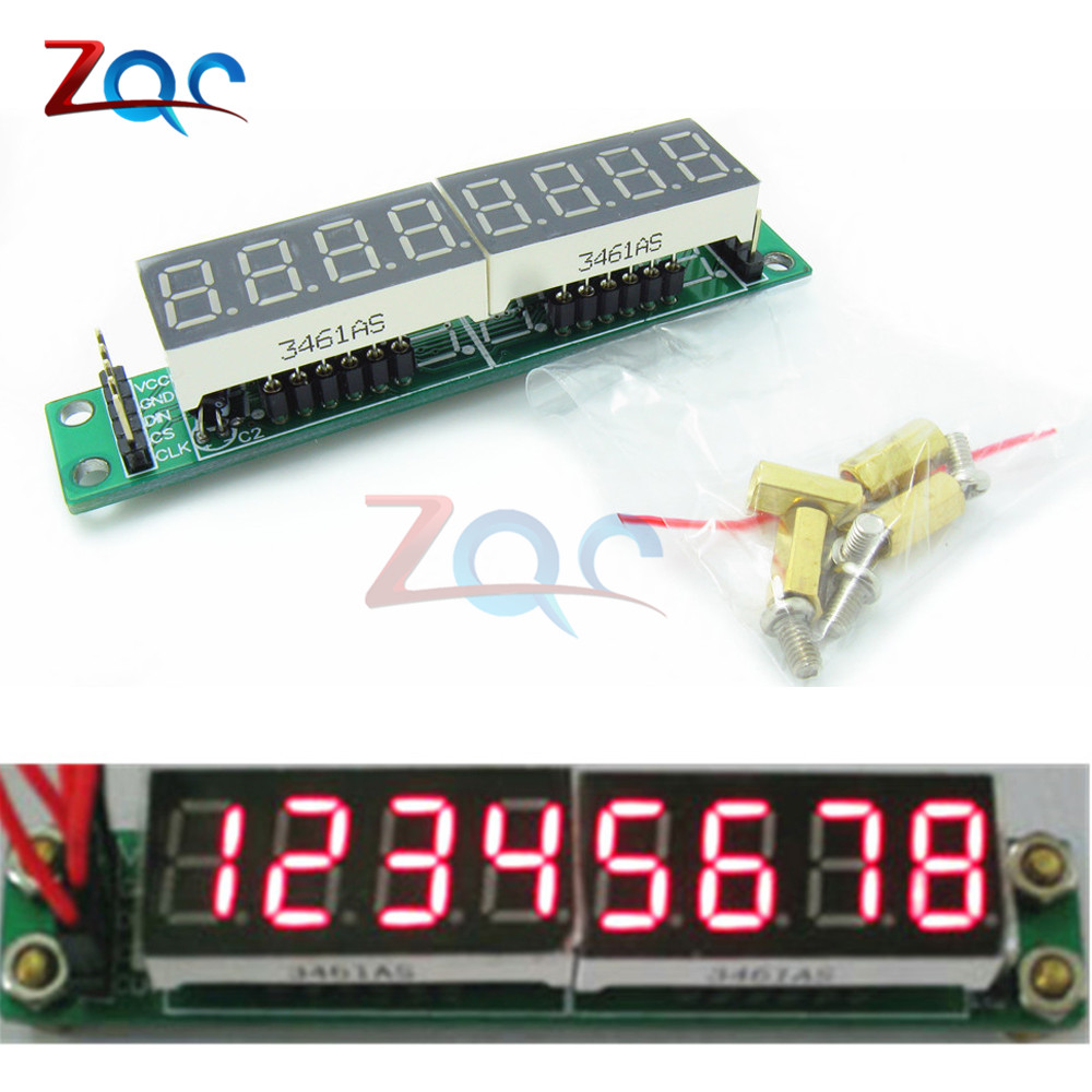 MAX7219 Red Module 8-Digit 7 Segment Digital LED Display Tube for Arduino MCU DIY KIT With screws