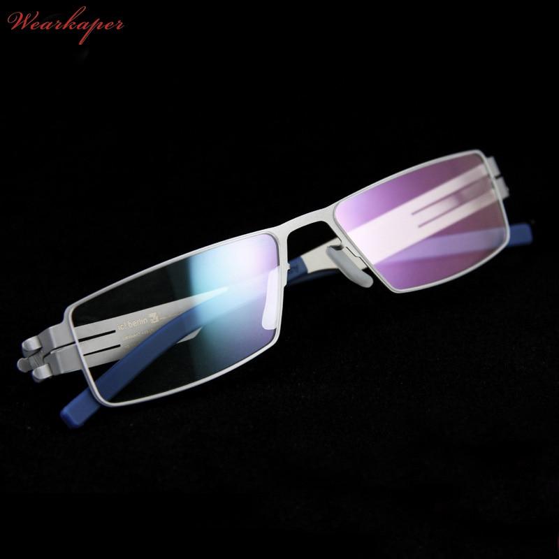 WEARKAPER Brand IC Germany Unique No screw Design Eyeglasses Frames Ultra Light Ultra thin Men/women myopia spectacle frame